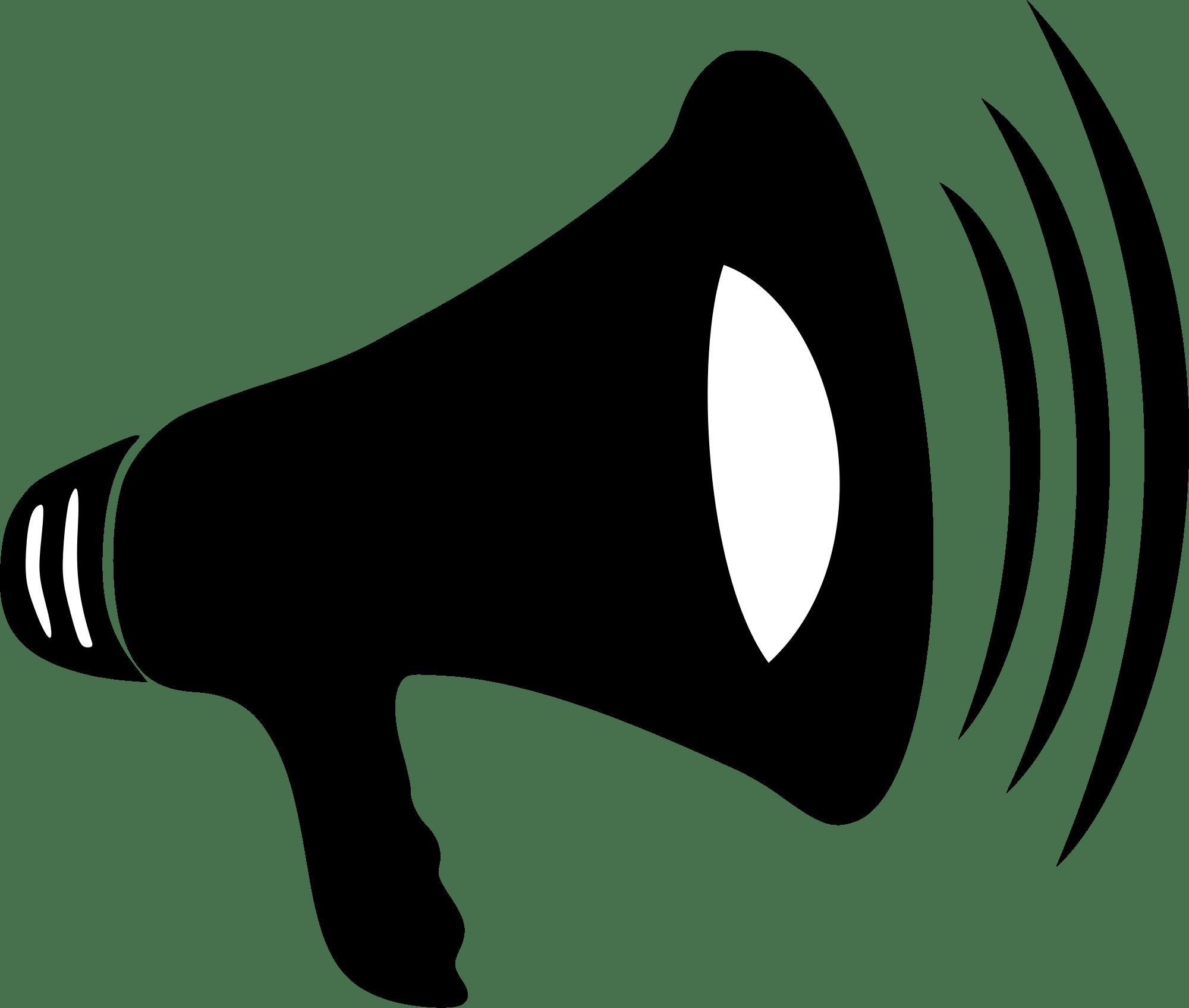 black megaphone clipart transparent png stickpng rh stickpng com green megaphone clipart cheerleader megaphone clipart