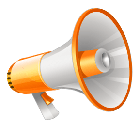 Megaphone yellow. And white clipart transparent