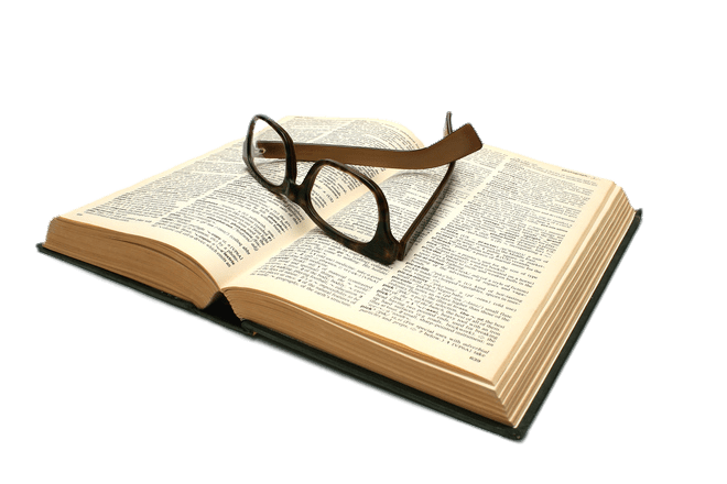 Lunettes Sur Un Livre Ouvert Png Transparents Stickpng