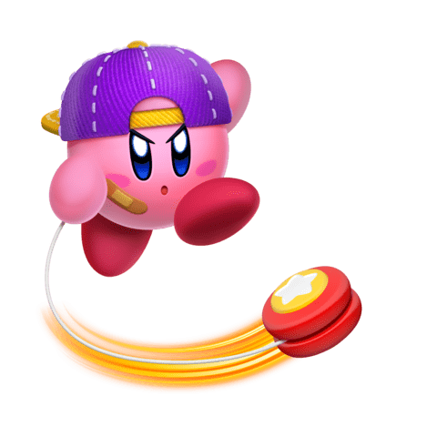 Kirby Playing With A Yoyo transparent PNG - StickPNG