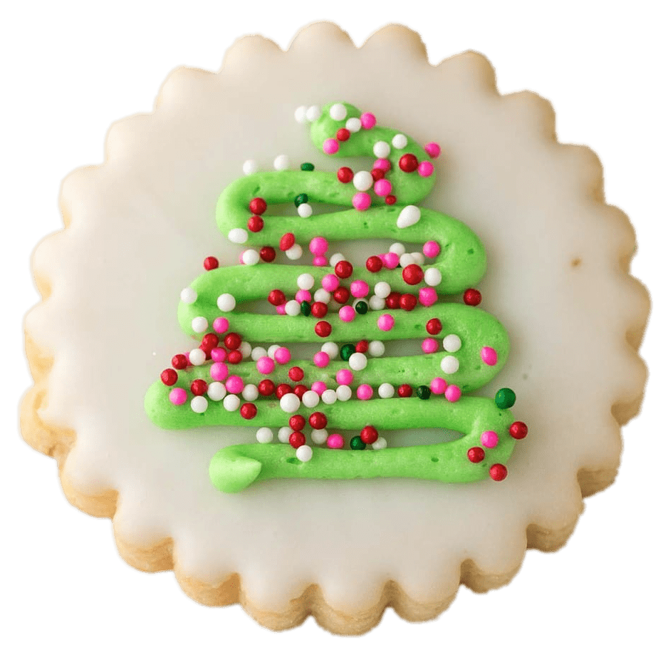 Christmas Tree Shortbread Transparent Png Stickpng