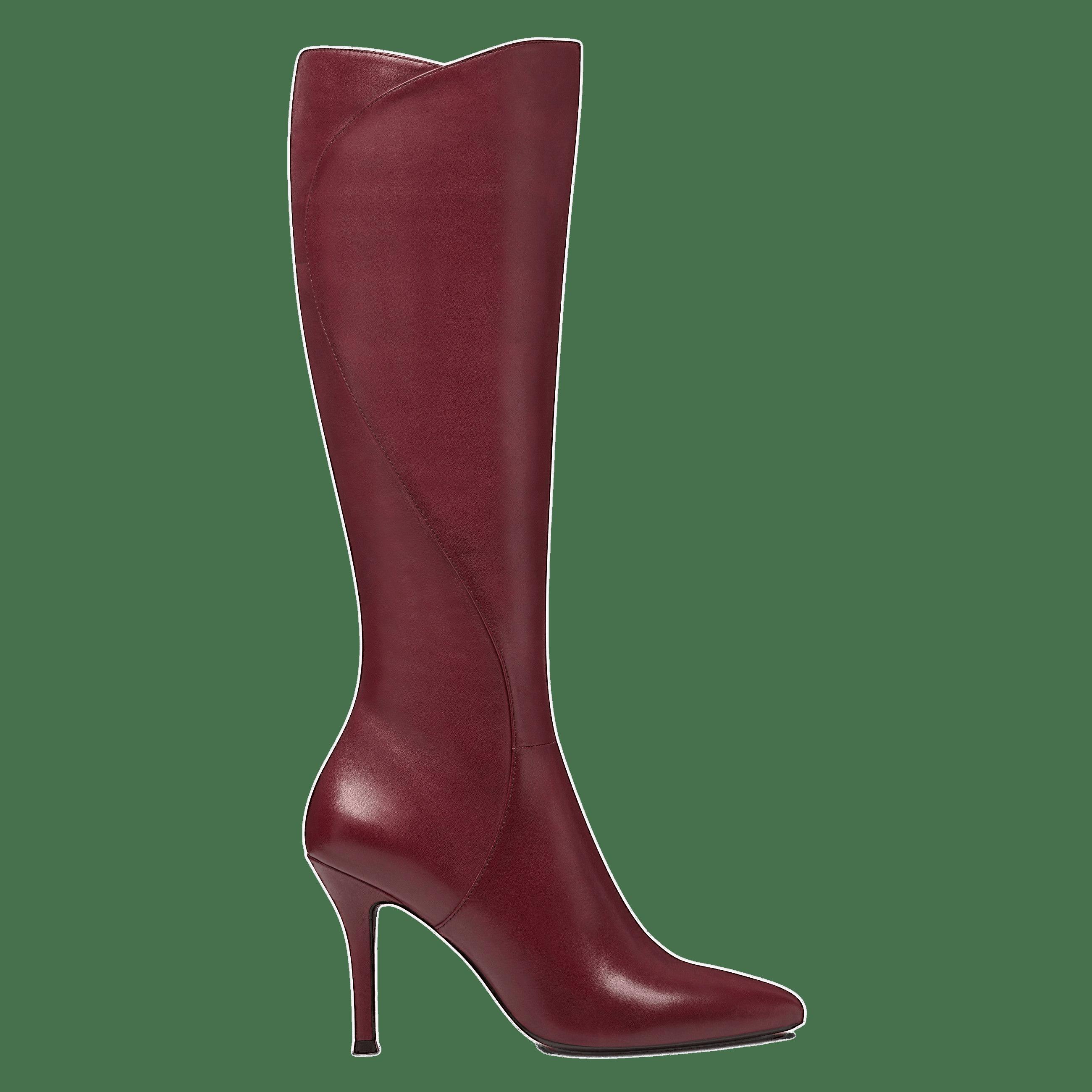 de10bb4c24e3 Bordeaux Knee High Boots transparent PNG - StickPNG