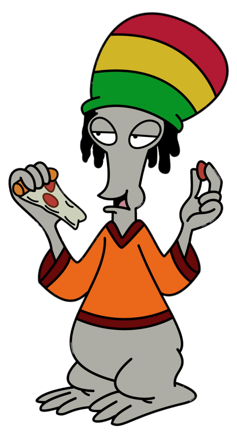American Dad american dad! character roger the alien jamaican outfit