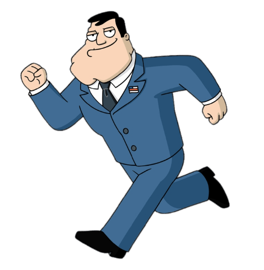 American Dad! Stan Smith Running transparent PNG - StickPNG
