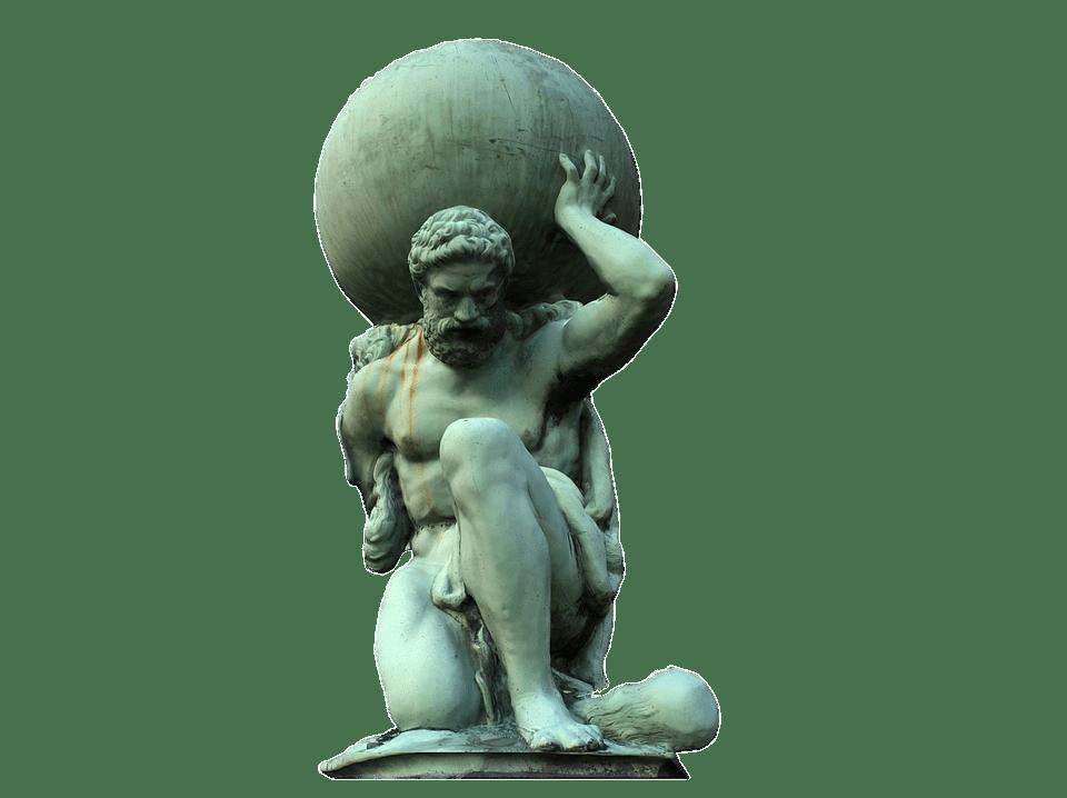 Atlas Statue Transparent Png Stickpng