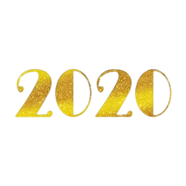 happy new year 2020 retro golden transparent png stickpng stickpng