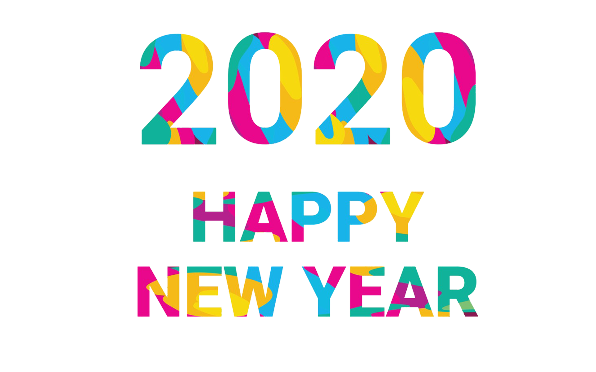 happy new year 2020 colours transparent png stickpng stickpng