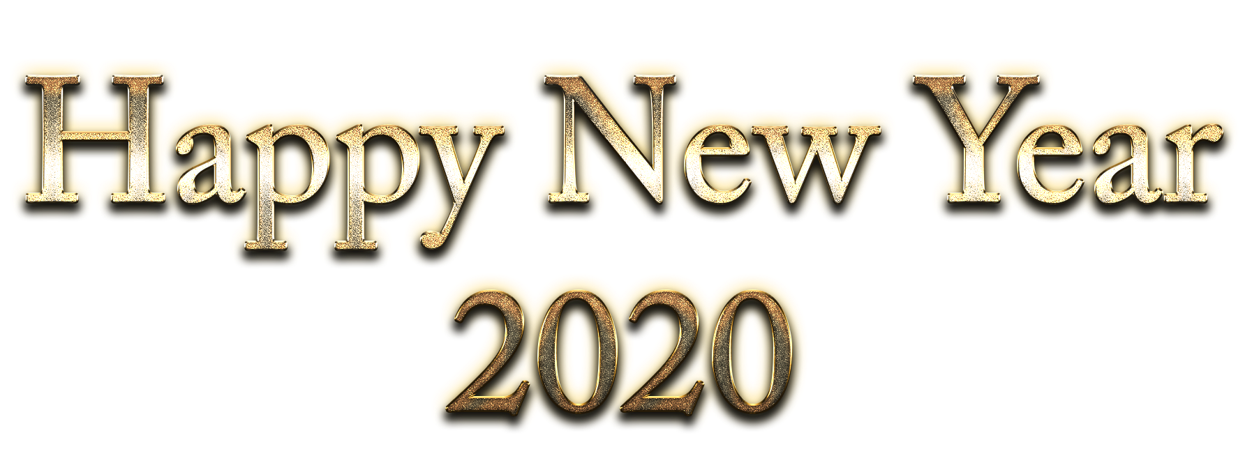 Happy New Year 2020 Classic Gold Transparent Png Stickpng