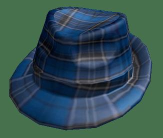 Roblox Blue Plaid Fedora Hat Transparent Png Stickpng