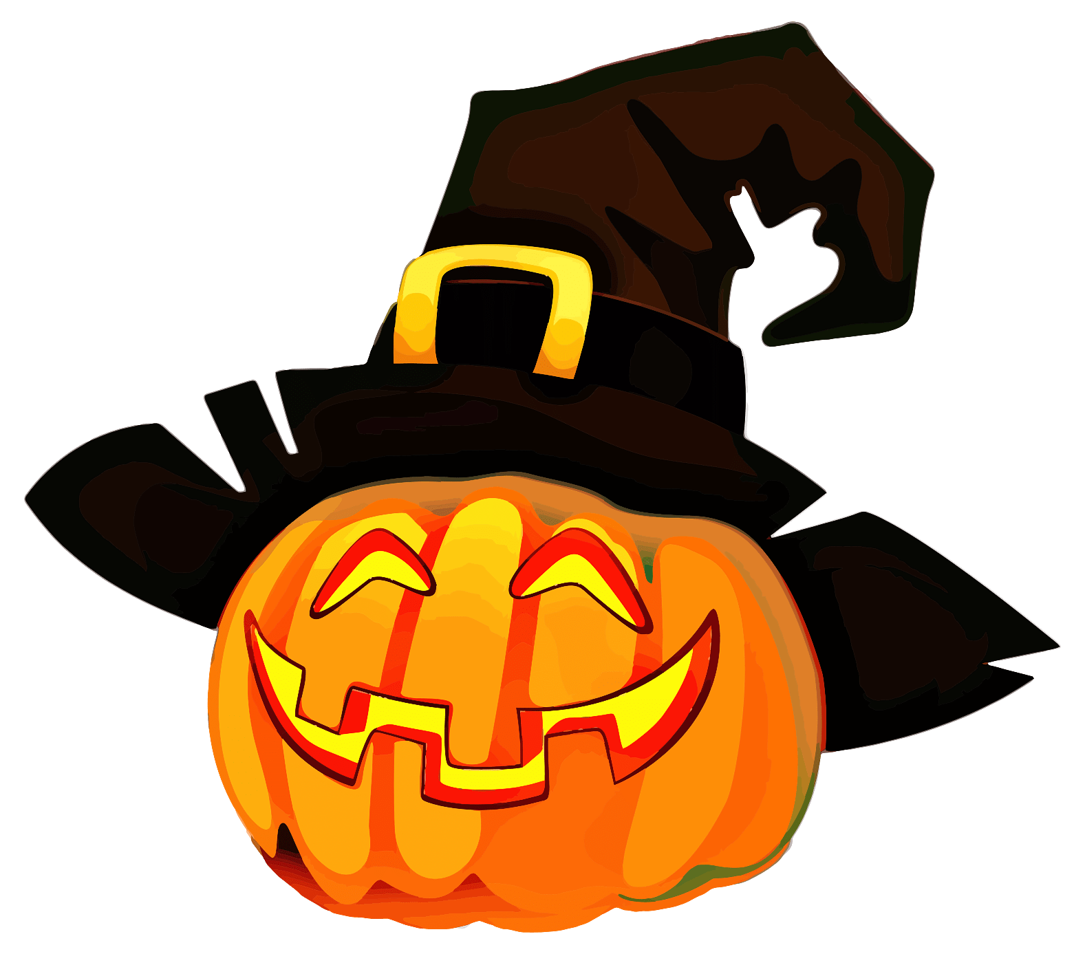 Jack O'Lantern with Witch Hat transparent PNG - StickPNG