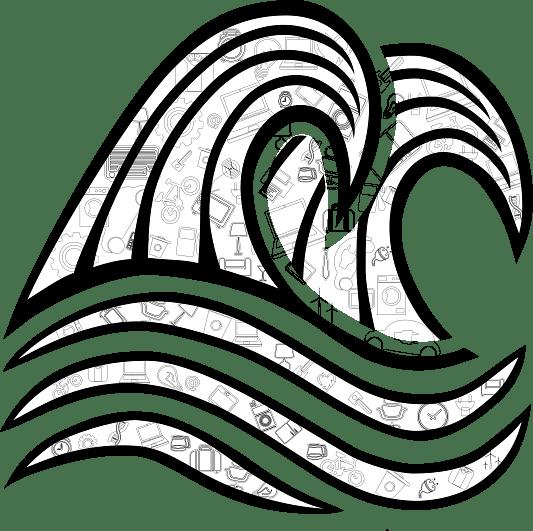 Sketch Of Waves Transparent Png Stickpng