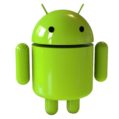 Android Robot Plastic Figurine