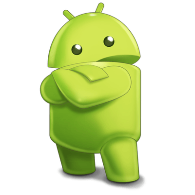 Android Robot Sideview Character