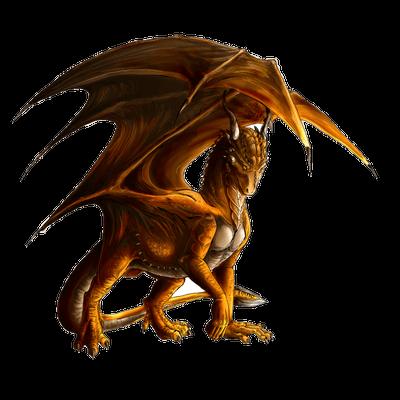 Large brown dragon transparent png stickpng - Images de dragons ...