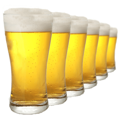 Row Of Pints Beer transparent PNG - StickPNG
