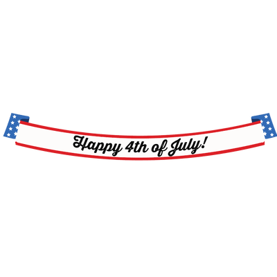 Happy Fourth Of July Long Banner