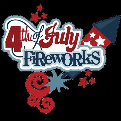 Happy Fourth Of July Rocket Fireworks Sticker Transparent