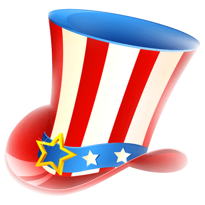 Happy Fourth Of July Uncle Sam Tophat