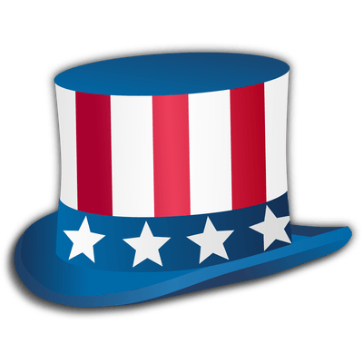 Happy Fourth Of July Top Hat