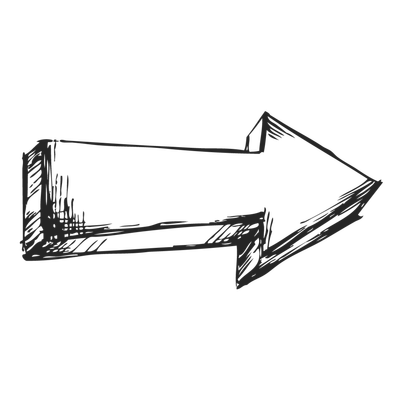 Arrow Black Drawing Right transparent PNG - StickPNG