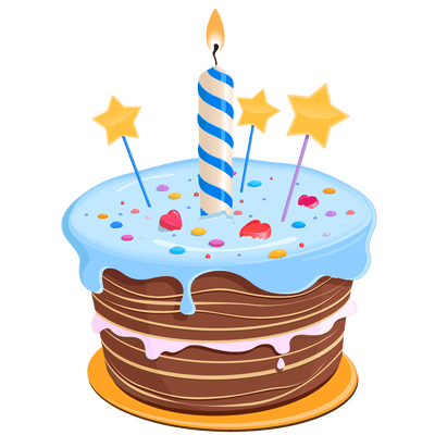 Yellow Birthday Cake Transparent Png