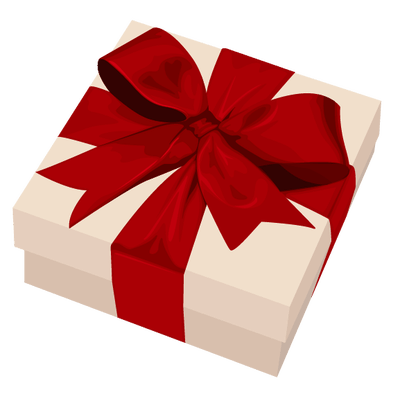 White Red Ribbon Gift transparent PNG - StickPNG