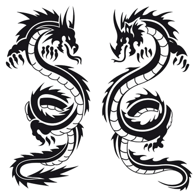 dragon tattoo transparent png stickpng. Black Bedroom Furniture Sets. Home Design Ideas