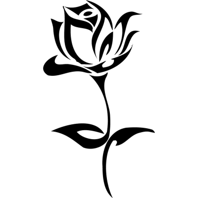Black Rose Vine Tattoo Design