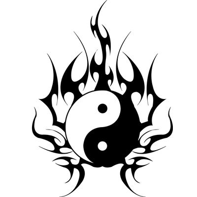 ying yang tattoo flames transparent png stickpng. Black Bedroom Furniture Sets. Home Design Ideas