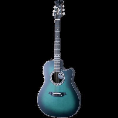 Acoustic Blue Guitar Transparent PNG
