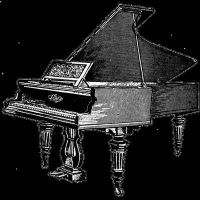 Antique Piano Clipart Transparent Png Stickpng
