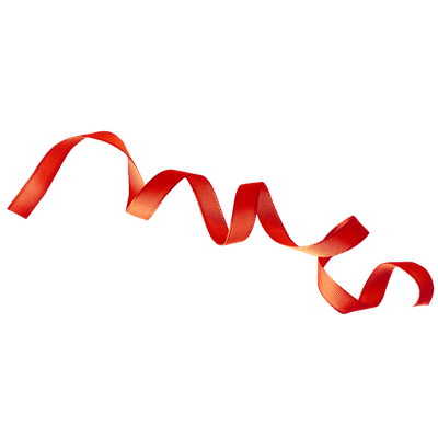 Curly Red Ribbon transparent PNG - StickPNG