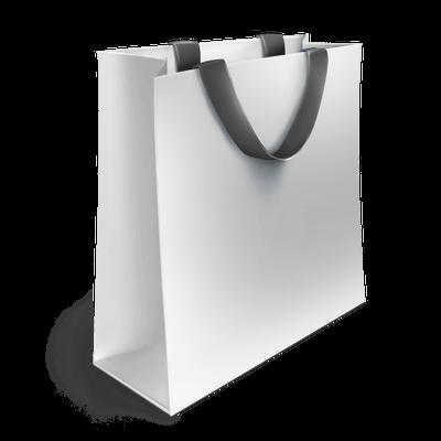 Plain White Luxury Shopping Bag transparent PNG - StickPNG