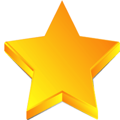 hollywood gold star transparent png stickpng