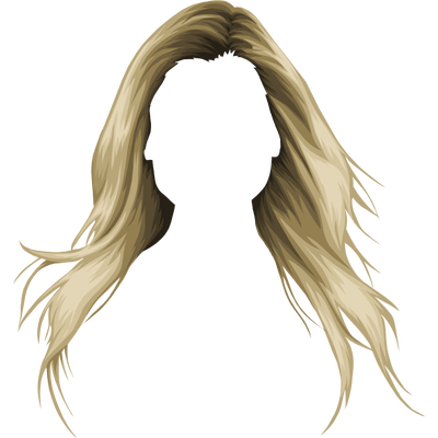 Blond Drawing Long Hair