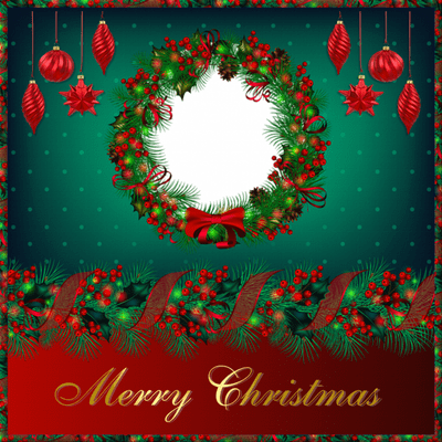 Merry Christmas Photo Frame Circle Transparent Png Stickpng