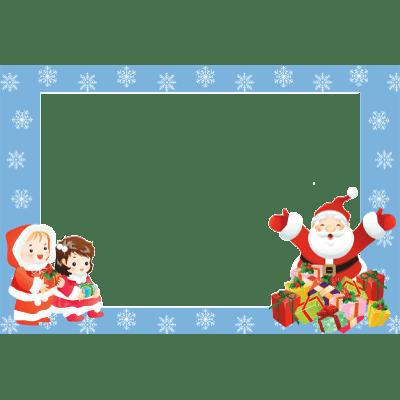 Merry Christmas Photo Frame Circle transparent PNG - StickPNG