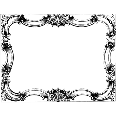 Victorian Black Frame transparent PNG - StickPNG