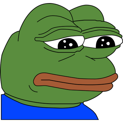 Image result for sad pepe png