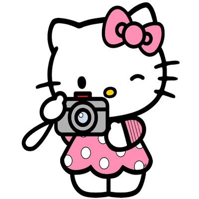 Hello Kitty Taking A Picture transparent PNG - StickPNG