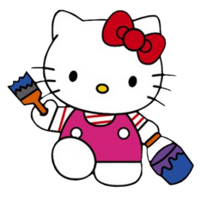 Hello kitty face transparent png stickpng hello kitty painting voltagebd Gallery