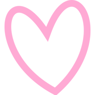 Heart Outline Pink transparent PNG - StickPNG