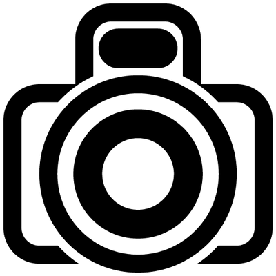 Camera Icon With Flash