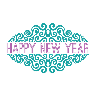 Happy New Year Purple transparent PNG - StickPNG