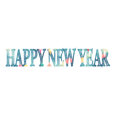 happy new year sketch text transparent png stickpng