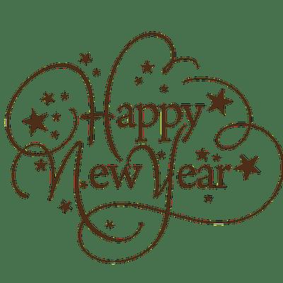 happy new year thin text