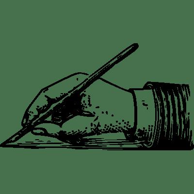 Hand Holding Pen Transparent PNG