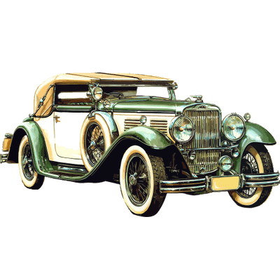 Old Black Car Drawing Transparent Png Stickpng