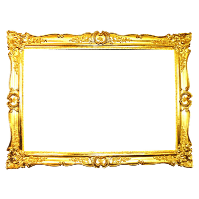Art Deco Golden Frame transparent PNG - StickPNG