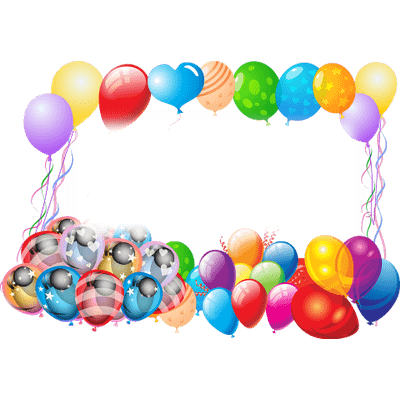 Happy Birthday Frame With Balloons